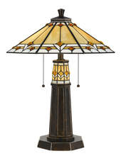 CAL Lighting BO-2670TB - 60W X 2 Tiffany Table Lamp