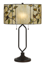 CAL Lighting BO-2674TB - 60W X 2 Tiffany Table Lamp