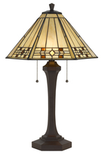 CAL Lighting BO-2676TB - 60W X 2 Tiffany Table Lamp