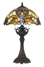 CAL Lighting BO-2796TB - 60W X 2 Tiffany Table Lamp