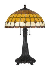 CAL Lighting BO-2797TB - 60W X 2 Tiffany Table Lamp