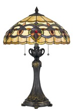 CAL Lighting BO-2800TB - 60W X 2 Tiffany Table Lamp