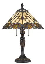 CAL Lighting BO-2801TB - 60W X 2 Tiffany Table Lamp