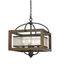CAL Lighting FX-3536/1C - 60W X 4 Semi-Flush Pendant