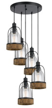 CAL Lighting FX-3584-5 - 60W X 5 Beacon Pendant Fixture(Edison Bulbs Not Included)