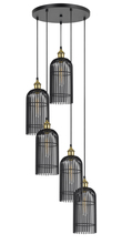 CAL Lighting FX-3626-5P - 60W X 5 Birdcage Metal Pendant (Edison Bulbs Not Included)