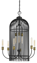 CAL Lighting FX-3626-9 - 60W X 9 Birdcage Metal Chandelier (Edison Bulbs Not Included)