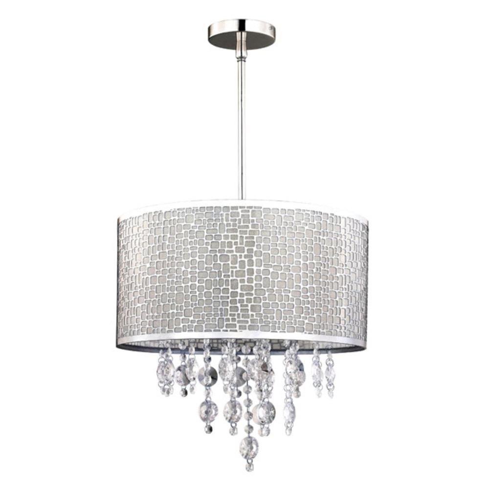 "Benito, ICH394A04CH9, 4 Lt Chandelier, Shade With Crystal, 40W Type G9, 15 3/4"" W x 66"" H"