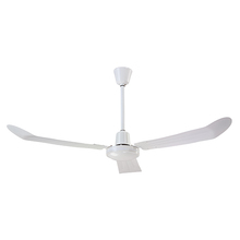 "Canarm CP56WH - Industrial Fan, CP56WH, 56"" WH Fan (Downdraft no Reverse), 3 Metal Blade, Downrod J-Hook Mount,"