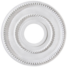 "Canarm FM-39 - Pearl, FM-39, 12"" Ceiling Medallion, 3 5/8"" Center Hole"