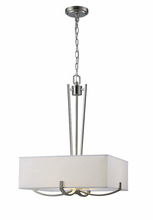 Canarm ICH422A03BN18 - Palmer, ICH422A03BN18, 3 Lt Chandelier, White Fabric Shade with Glass Diffuser, 100W Type A, 18""