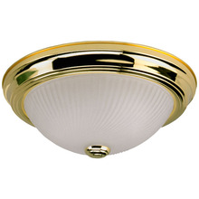 "Canarm IFM21103N - Fmount, IFM211 BP, 11"" 2 Bulb Flushmount, Frosted Swirl Glass, 40W Type A"