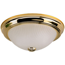 "Canarm IFM21303N - Fmount,  IFM213 BP, 13"" 2 Bulb Flushmount, Frosted Swirl Glass, 60W Type A"