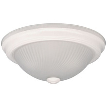 "Canarm IFM21311N - Fmount, IFM213 WH, 13"" 2 Bulb Flushmount,  Frosted Swirl Glass, 60W Type A"