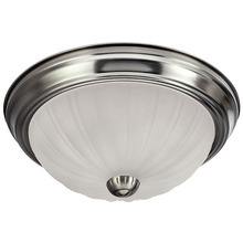 "Canarm IFM31151N - Fmount, IFM311 BPT, 11"" 2 Bulb Flushmount, Frosted Melon Glass, 40W Type A"