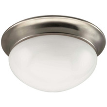 "Canarm IFM5951 - Fmount, IFM59 BPT, 9"" 1 Bulb Flushmount, Frosted Glass, 60W Type A"