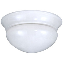 "Canarm IFM5911 - Fmount, IFM59 WH, 9"" 1 Bulb Flushmount, Frosted Glass, 60W Type A"
