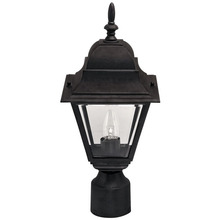 "Canarm IOL1310 - Outdoor, IOL13 BK, 1 Bulb Post Light, Clear Bevelled Glass, 100W Type A or B, 3 1/4"" Post"