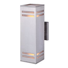 "Canarm IOL308BN - TAY, IOL308BN, 2 Lt Outdoor, Frosted Glass, 60W Type A, 4 1/2"" W x 13"" H x 5 3/4"" D, Eas"
