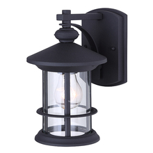 "Canarm IOL315BK - TREEHOUSE, IOL315BK, 1 Lt Outdoor Down Light, Clear Glass, 1 x 100W Type A, 6"" W x 9 3/4"" H"