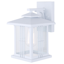"Canarm IOL320WH - YUNA, IOL320WH, 1 Lt Outdoor Down Light, Clear Glass, 1 x 100W Type A, 8"" W x 12 1/2"" H x 9&"