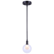 "Canarm IPL346B01BK9 - HEALEY, IPL346B01BK9, 1 Lt Rod Pendant, MBK Color, Double Glass, 60W Type G9, 5"" W x 10"" - 5"
