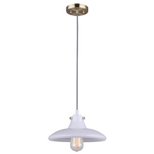 "Canarm IPL635A01BS - MEIRA, IPL635A01BS, 1 Lt Cord Pendant, Opalescent Glass, 100W Type A, 11"" W x 7"" -  56"""