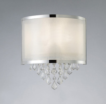 "Canarm IWL435A01CH - Reese, IWL435A01CH, 1 Lt Wall Sconce,Sparkle Shade with Crystals, 60W Type C, 11 1/4"" W x 12 1/2"
