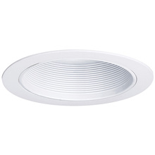 "Canarm T6SBWH - Recessed, 6"" Step Baffle Trim, White, 65W (R30) or 75W (PAR30L) BULB"