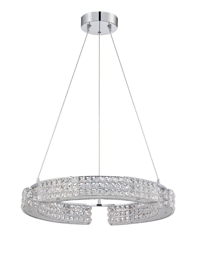 CARINA series 9 Light 23 in. Optic Crystal Pendant in a Chrome finish