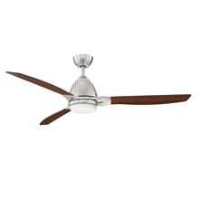 Kendal AC21852-SN - ERIS 52 in. LED Satin Nickel Ceiling Fan