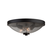 Artcraft AC10538JV - San Antonio 3 Light Java Brown Flush Mount