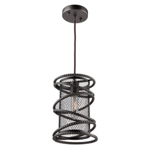Artcraft AC10820JV - Rebar Studio 1 Light Dark Java Brown Pendant