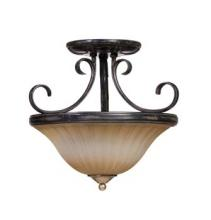 Artcraft AC4306 - Three Light Bronze Bowl Semi-Flush Mount