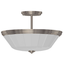 Artcraft AC4375CH - Raleigh Chrome Semi Flush