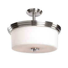Artcraft AC4393PN - Russell Hill 3 Light  Polished Nickel Flush Mount