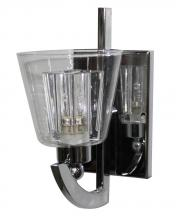 Artcraft AC5791CH - One Light Chrome Clear Glass Wall Light