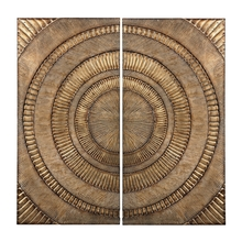 Elk Home 138-133/S2 - SET OF 2 ABSTRACT METAL WALL PANELS