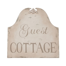 Elk Home 161521 - Guest Cottage Signature White 30in  Wood and Metal Wall Decor with Handpainted Graphics