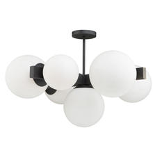 Steven & Chris SC13222BK - Moonglow SC13222BK Semi-Flush Mount