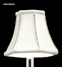 James R Moder 94155S55 - Non-Tilt Silk Shade with Crystal Jewels