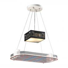 ELK Lighting 5138/2 - Novelty 2-Light Island Light in Silver with Hockey Arena Motif