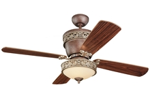 "Monte Carlo 4VG42/28TBD-L - 42"" or 28"" Villager Fan - Tuscan Bronze"